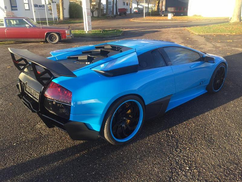 Baby Blue On Lamborghini Murcielago By Car Wrapping Kuhnert