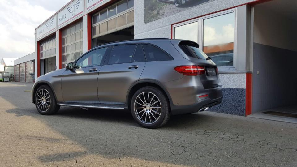 Mercedes Benz GLE Satin dark Grey Folierung Tuning 4 Mercedes Benz GLE in Satin dark Grey by Folienwerk NRW