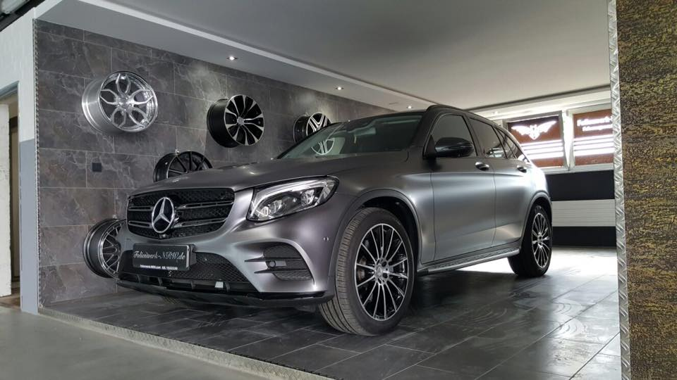 Mercedes Benz GLE Satin dark Grey Folierung Tuning 5 Mercedes Benz GLE in Satin dark Grey by Folienwerk NRW