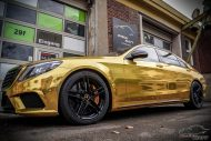 Mercedes S65 AMG Langversion Goldchrom Folierung Tuning 1 190x127 Mercedes S65 AMG Langversion mit Gold Folierung