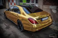 Mercedes S65 AMG Langversion Goldchrom Folierung Tuning 2 190x127 Mercedes S65 AMG Langversion mit Gold Folierung