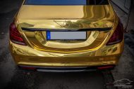 Mercedes S65 AMG Langversion Goldchrom Folierung Tuning 3 190x127 Mercedes S65 AMG Langversion mit Gold Folierung