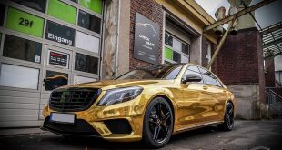 Mercedes S65 AMG Langversion Goldchrom Folierung Tuning 5 310x165 Mercedes S65 AMG Langversion mit Gold Folierung