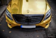 Mercedes S65 AMG Langversion Goldchrom Folierung Tuning 7 190x127 Mercedes S65 AMG Langversion mit Gold Folierung