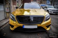 Mercedes S65 AMG Langversion Goldchrom Folierung Tuning 8 190x127 Mercedes S65 AMG Langversion mit Gold Folierung