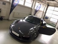 Porsche 991 Turbo S Folierung Tuning Stone Grey Gloss 1 190x143 Schicker Style   Porsche 991 Turbo S in Stone Grey Gloss