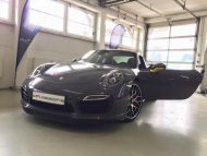 Porsche 991 Turbo S Folierung Tuning Stone Grey Gloss 2 190x143 Schicker Style   Porsche 991 Turbo S in Stone Grey Gloss