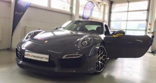 Porsche 991 Turbo S Folierung Tuning Stone Grey Gloss 2 310x165 Schicker Style   Porsche 991 Turbo S in Stone Grey Gloss