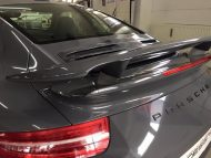 Porsche 991 Turbo S Folierung Tuning Stone Grey Gloss 4 190x143 Schicker Style   Porsche 991 Turbo S in Stone Grey Gloss