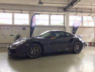 Porsche 991 Turbo S Folierung Tuning Stone Grey Gloss 5 190x143 Schicker Style   Porsche 991 Turbo S in Stone Grey Gloss