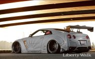 Tuning 2017 Liberty Walk Nissan GT R 11 190x117 Auto von Darth Vader gefunden! Nissan GT R by LB Works