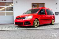 VW Caddy Cardinal Red Folierung Tuning BBS KW 1 190x127 Unübersehbarer VW Caddy in Cardinal Red by SchwabenFolia CarWrapping.de