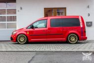 VW Caddy Cardinal Red Folierung Tuning BBS KW 2 190x127 Unübersehbarer VW Caddy in Cardinal Red by SchwabenFolia CarWrapping.de