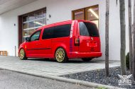 VW Caddy Cardinal Red Folierung Tuning BBS KW 3 190x126 Unübersehbarer VW Caddy in Cardinal Red by SchwabenFolia CarWrapping.de