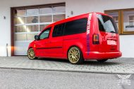 VW Caddy Cardinal Red Folierung Tuning BBS KW 4 190x127 Unübersehbarer VW Caddy in Cardinal Red by SchwabenFolia CarWrapping.de