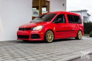VW Caddy Cardinal Red Folierung Tuning BBS KW 5 190x126 Unübersehbarer VW Caddy in Cardinal Red by SchwabenFolia CarWrapping.de