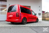 VW Caddy Cardinal Red Folierung Tuning BBS KW 6 190x127 Unübersehbarer VW Caddy in Cardinal Red by SchwabenFolia CarWrapping.de