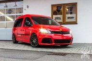 VW Caddy Cardinal Red Folierung Tuning BBS KW 7 190x127 Unübersehbarer VW Caddy in Cardinal Red by SchwabenFolia CarWrapping.de