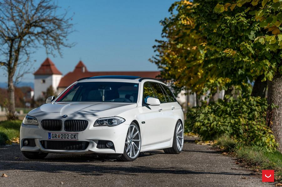 Vossen Wheels Cvt Wheels On Alpine White Bmw 5er F11 Touring