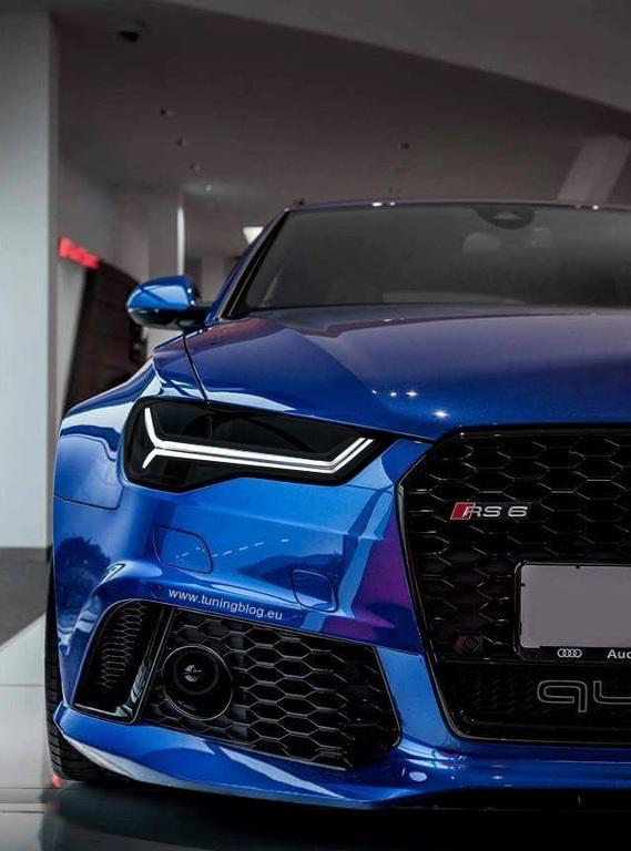 Widebody Audi RS6 C7 Avant Blauer Widebody Audi RS6 C7 Avant mit Black Eyes by tuningblog
