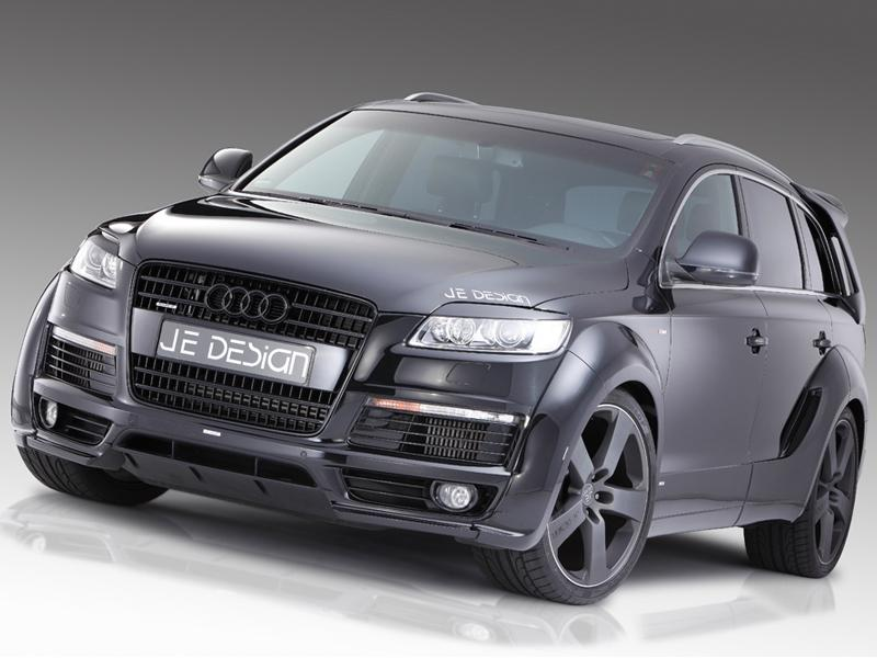 Audi Q7 4L S Line JE Design Widebody Kit Tuning 6 Audi Q7 4L S Line mit JE Design Widebody Kit in Mattweiß
