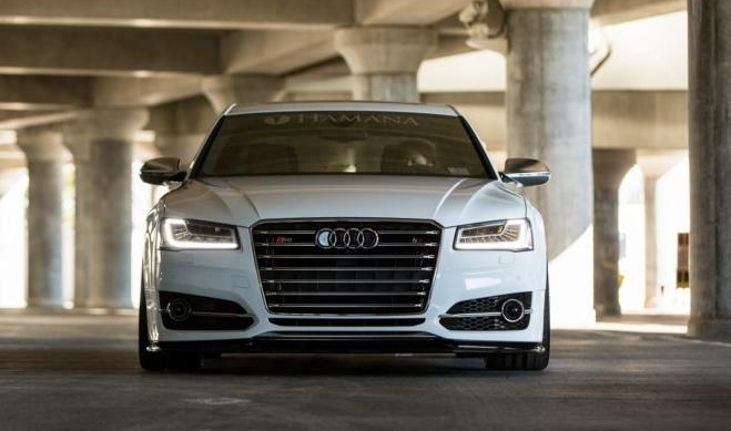 Audi S8 A4 4D Widebody Tuning 1 Widebody Audi A8 S8 D4 mit extremer Tieferlegung by tuningblog
