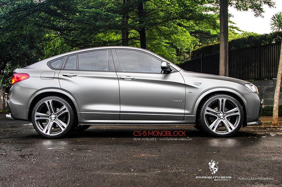 sportlicher bmw x4 f26 auf premier edition cs 5 felgen. Black Bedroom Furniture Sets. Home Design Ideas
