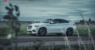 BMW X6M E71 HRE Tuning P104 2 310x165 Dezente HRE P104 Felgen am 555PS BMW X6M E71 in Alpineweiß