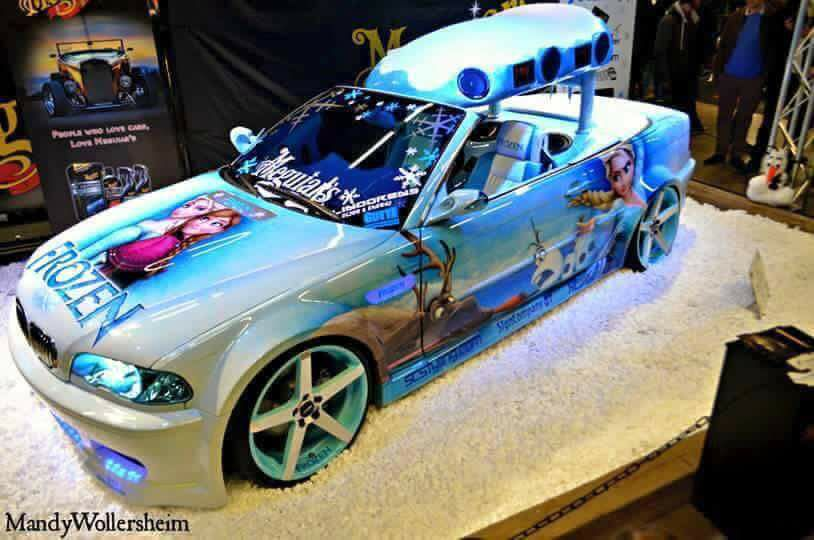 Frozen BMW E46 Widebody Die Eisk%C3%B6nigin 15 Frozen Themed BMW E46 Cabrio (Die Eiskönigin) + Video!