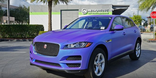 Jaguar F-PACE im 3M 1080 Electric Wave Design by MetroWrapz
