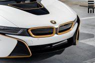 Mattweiße Folierung goldene Akzente Tuning BMW i8 17 190x127 Exclusive Motoring   BMW i8 in Mattweiß & goldenen Akzenten