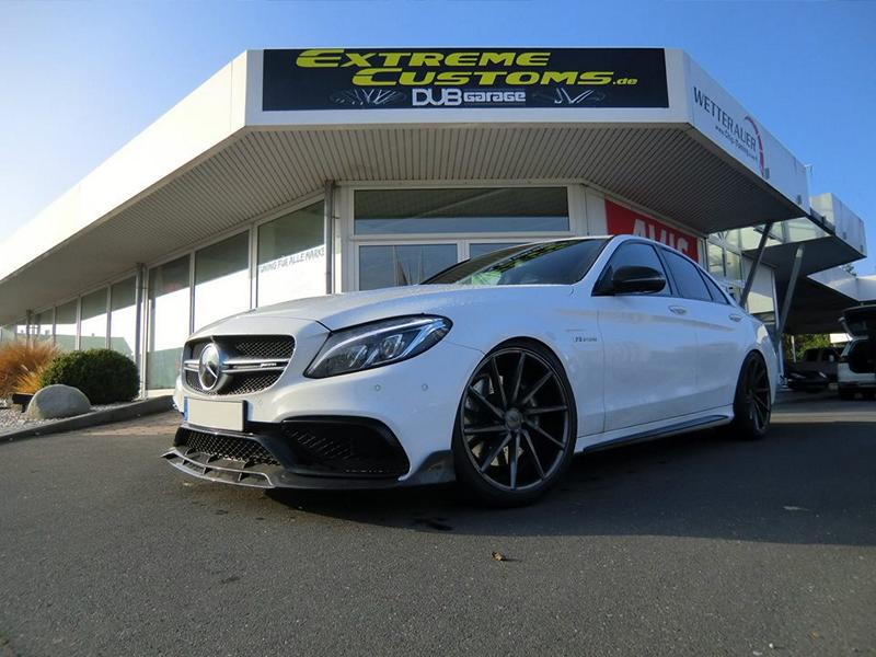 Mercedes C63 AMG W205 Chiptuning Wetterauer Brabus Vossen 1 Mercedes AMG C63 mit 622PS by Extreme Customs Germany