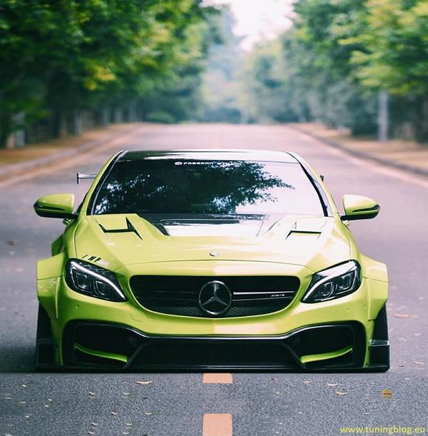 Widebody mercedes benz c63s amg w205 by for How much is a mercedes benz c63 amg