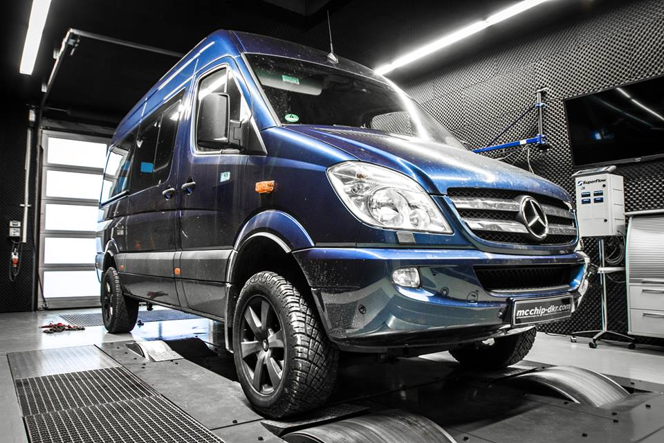 Mercedes Sprinter 318 CDI 3.0l 4x4 Chiptuning 7 Mächtiger Transporter   Mercedes Sprinter mit 217PS by Mcchip