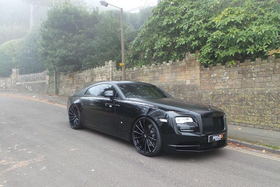 Completely In Black Rolls Royce Wraith On Forgiato Wheels
