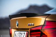 Sunburst Gold Metallic BMW M3 F80 HRE R101 Tuning 10 190x127 Seltener Sunburst Gold lackierter BMW M3 auf HRE Alu's
