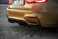 Sunburst Gold Metallic BMW M3 F80 HRE R101 Tuning 11 190x127 Seltener Sunburst Gold lackierter BMW M3 auf HRE Alu's