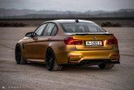 Sunburst Gold Metallic BMW M3 F80 HRE R101 Tuning 14 190x127 Seltener Sunburst Gold lackierter BMW M3 auf HRE Alu's