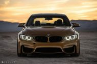 Sunburst Gold Metallic BMW M3 F80 HRE R101 Tuning 21 190x127 Seltener Sunburst Gold lackierter BMW M3 auf HRE Alu's