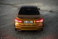 Sunburst Gold Metallic BMW M3 F80 HRE R101 Tuning 6 190x127 Seltener Sunburst Gold lackierter BMW M3 auf HRE Alu's