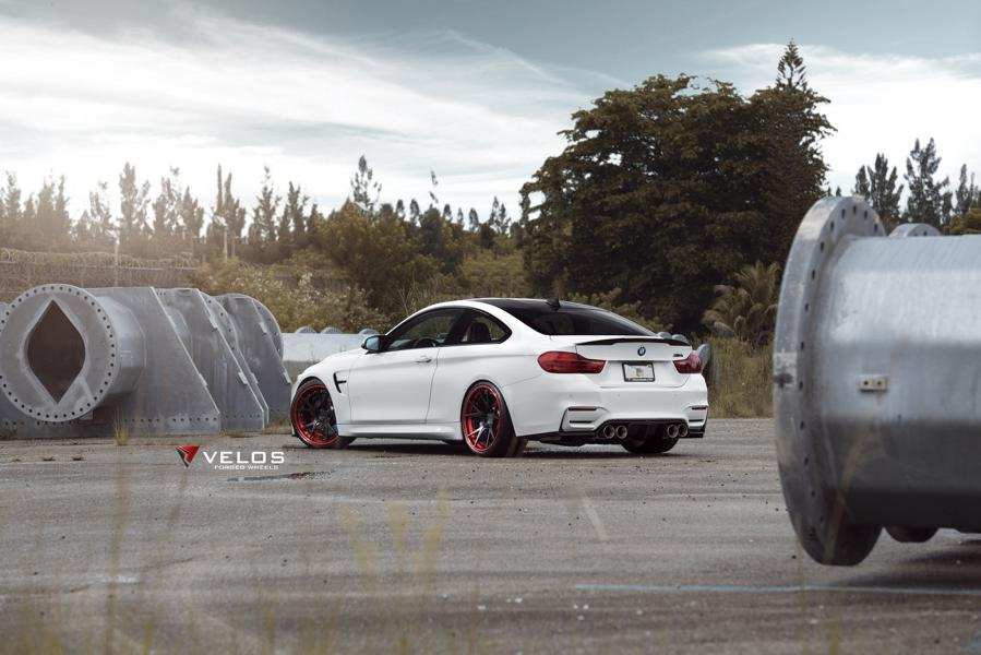 Velos S3 Wheels Tuning BMW M4 F82 Coupe 1 Rote Velos S3 Wheels am BMW M4 F82 Coupe