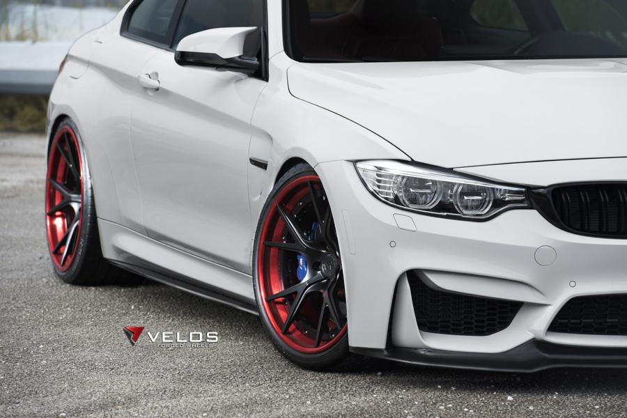 Velos S3 Wheels Tuning BMW M4 F82 Coupe 6 Rote Velos S3 Wheels am BMW M4 F82 Coupe