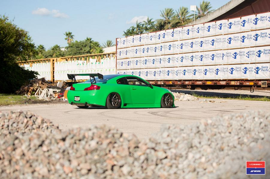 Widebody Infiniti G35 Vossen x Work Tuning 1 Extremer Widebody Infiniti G35 auf Vossen x Work wheels