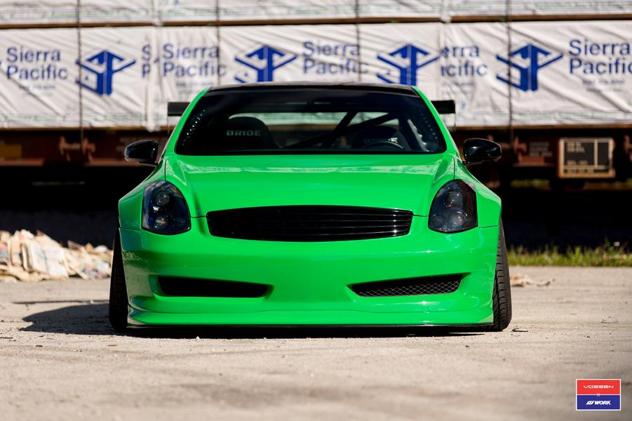 Widebody Infiniti G35 Vossen x Work Tuning 3 Extremer Widebody Infiniti G35 auf Vossen x Work wheels