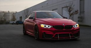mattrot Folierung BMW M4 F82 Coupe Tuning iND Distribution 1 310x165 Schicker BMW X5M F85 in Jet Black mit iND & HRE Parts
