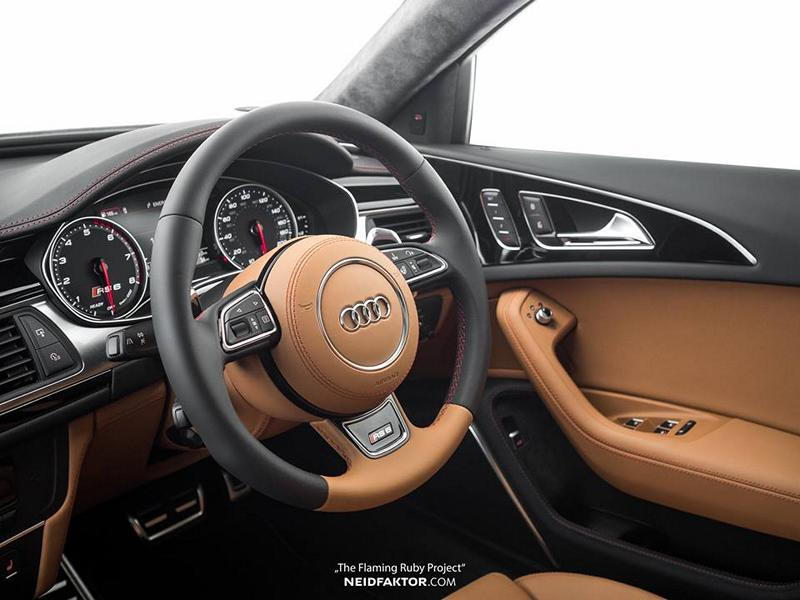 """""""The Flaming Ruby Project"""" Audi RS6 C7 Avant Interieur Tuning Neidfaktor 6 """"The Flaming Ruby Project""""   edles RS6 Interieur bei Neidfaktor"""