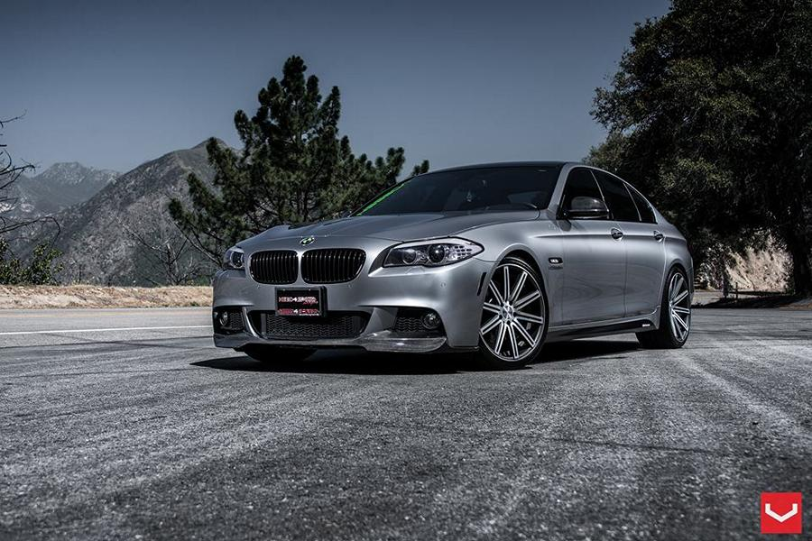 20 zoll vossen wheels cv4 felgen am eleganten bmw 5er f10. Black Bedroom Furniture Sets. Home Design Ideas