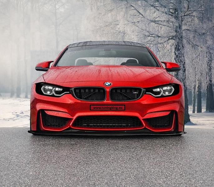 4 F82 Tuning Red 2 Rendering: Böses BMW M4 F82 Coupe by tuningblog.eu