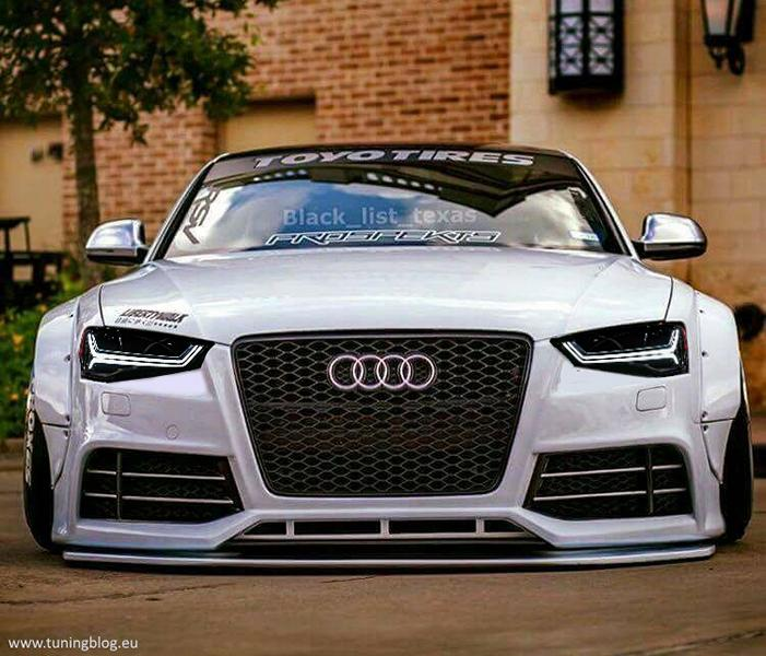 Audi A5 S5 Coupe Liberty Widebody RS6 Headlights Tuning 2 Widebody Audi A5 S5 Coupe mit schwarzen RS6 Scheinwerfern