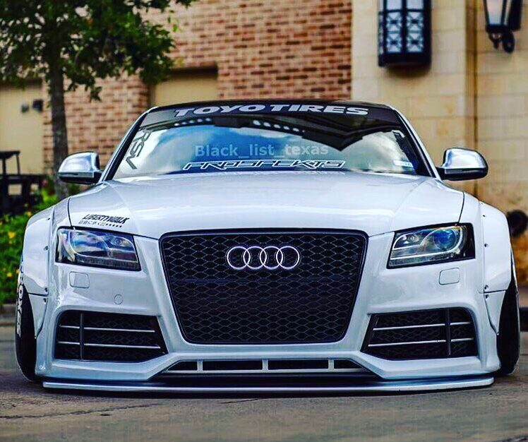 Audi A5 S5 Coupe Liberty Widebody RS6 Headlights Tuning e1483331070349 Widebody Audi A5 S5 Coupe mit schwarzen RS6 Scheinwerfern